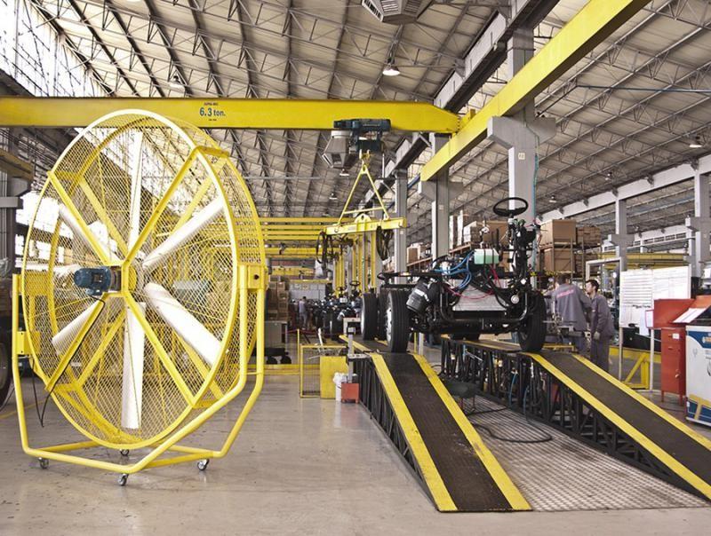Ventilador móvel industrial